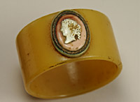 Father Ignatius' napkin ring bearing a cameo of his mother Guinevere