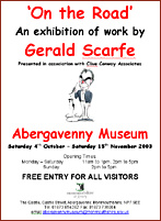 Poster for Gerald Scarfe exhibition