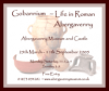 Poster advertising 'Life in Roman Abergavenny' display